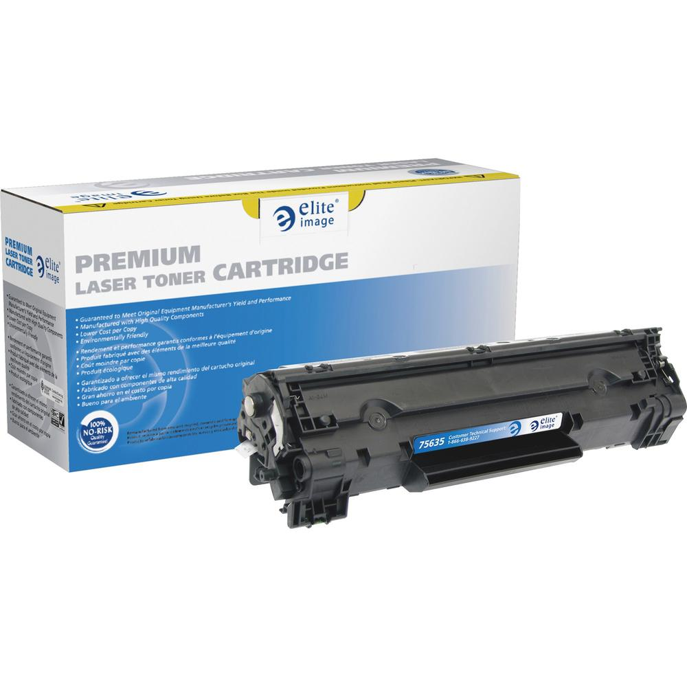 Elite Image Remanufactured MICR Toner Cartridge - Alternative for HP 78A (CE278A) - Laser - 2100 Pages - Black - 1 Each. Picture 1