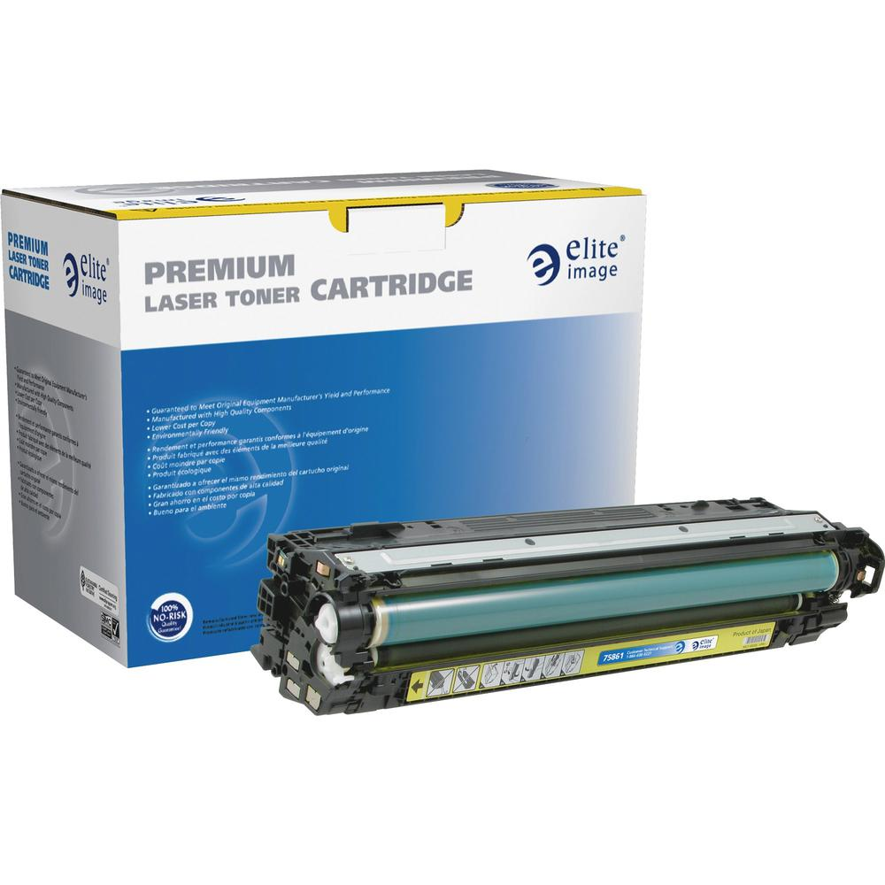 Elite Image Remanufactured Toner Cartridge - Alternative for HP 307A (CE742A) - Laser - 7300 Pages - Yellow - 1 Each. Picture 1