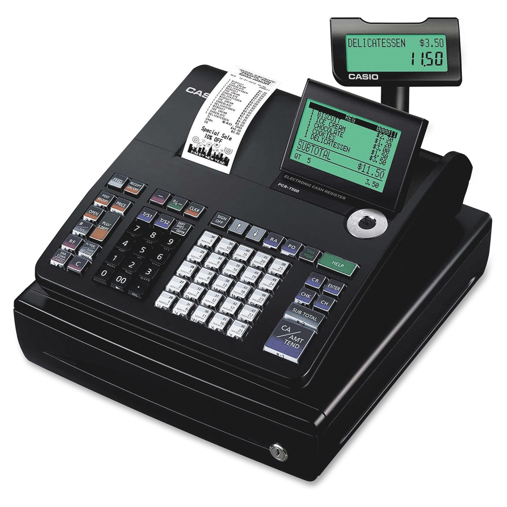 Casio Pcr T500 10 Line Display Cash Register 3000 Plus
