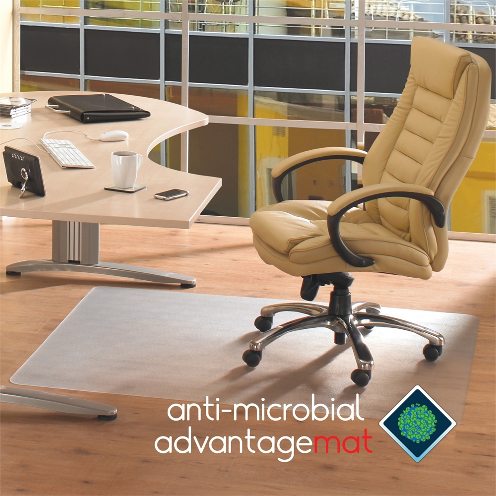 Cleartex Hard Floor Antimicrobial Chair Mat Hardwood Floor Tile