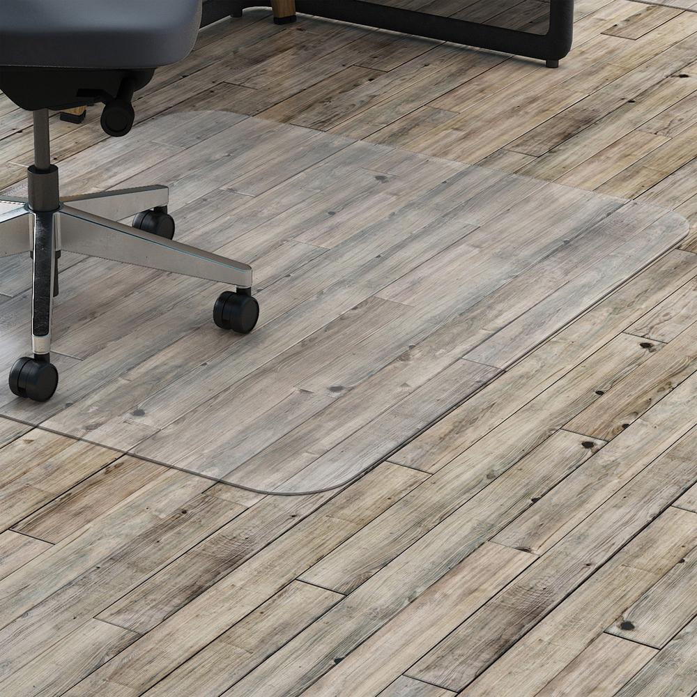 Hard floor rectangler polycarbonate chairmat hard floor vinyl lorell hard floor rectangler polycarbonate chairmat hard floor vinyl floor tile floor wood floor 60 length x dailygadgetfo Choice Image