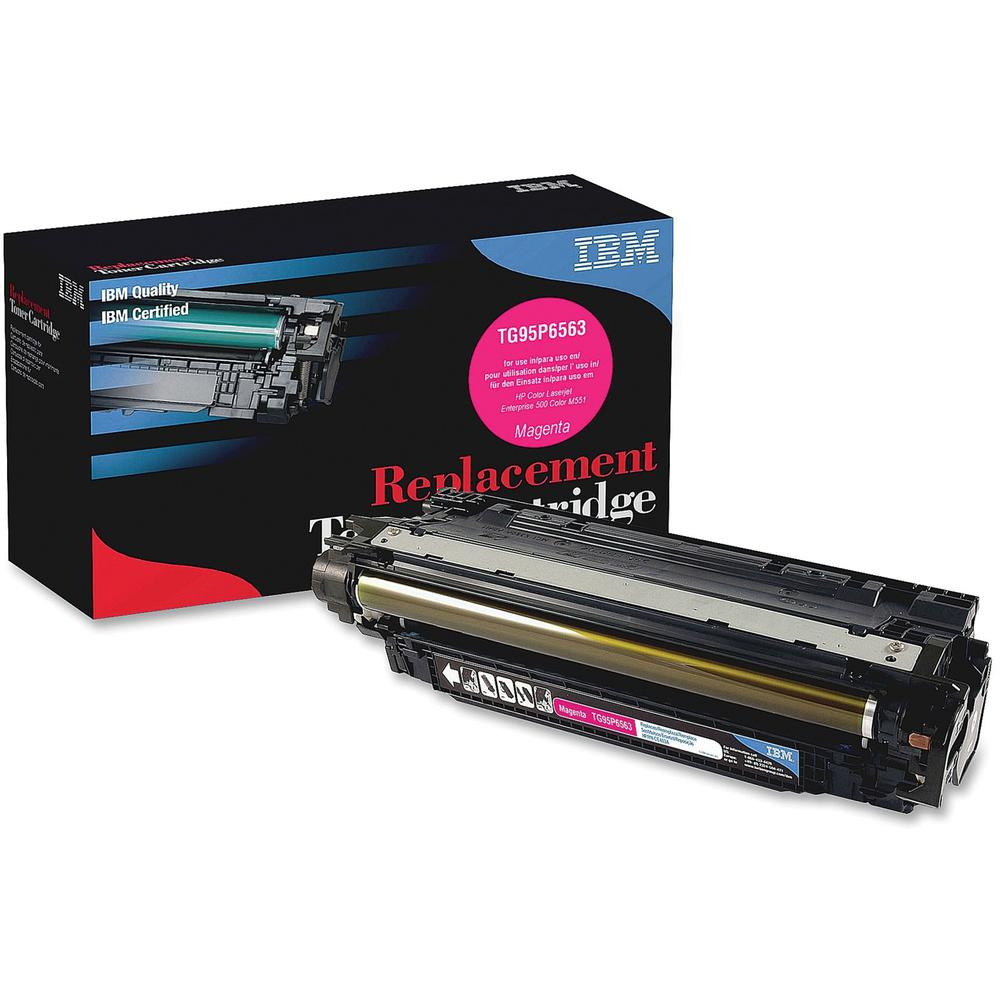 IBM Remanufactured Toner Cartridge - Alternative for HP 507A (CE403A) - Laser - 6000 Pages - Magenta - 1 Each. Picture 1