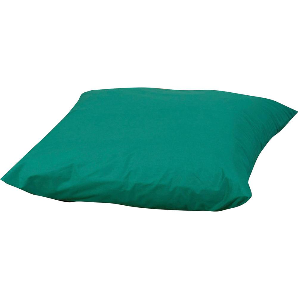 "Children's Factory Foam-filled Square Floor Pillow - 27"" x 27"" - Foam Filling - Polyester - Square - Water Resistant, Machine Washable - Green - 1Each. Picture 1"