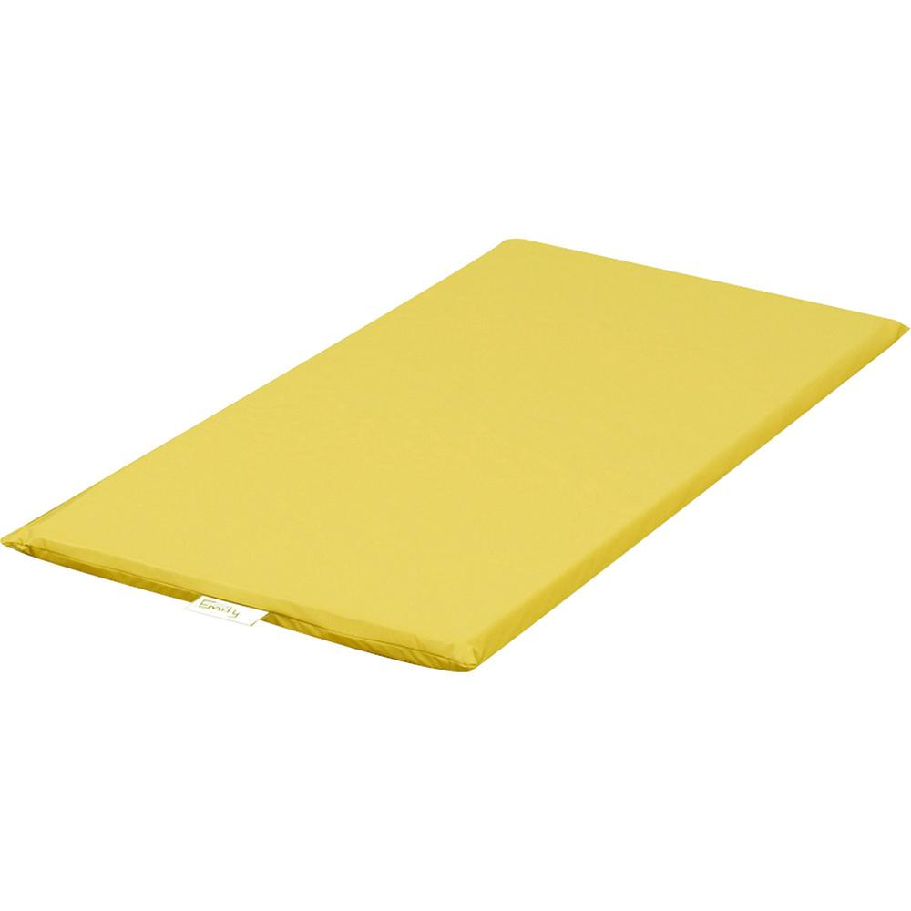 "Children's Factory Rainbow Rest Mats - Student - 48"" Length x 24"" Width x 2"" Thickness - Rectangle - Foam, Vinyl - Yellow. Picture 1"