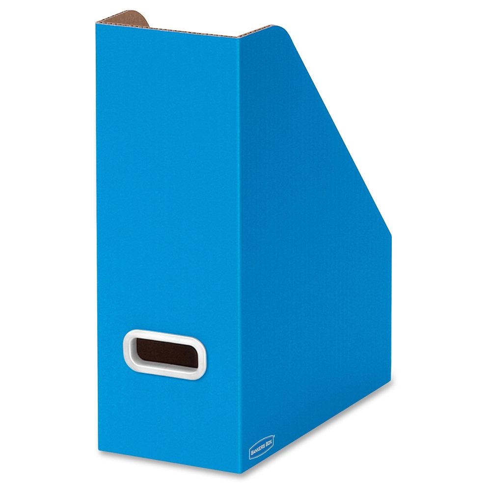 Bankers Box Premier Magazine File Blue White Plastic