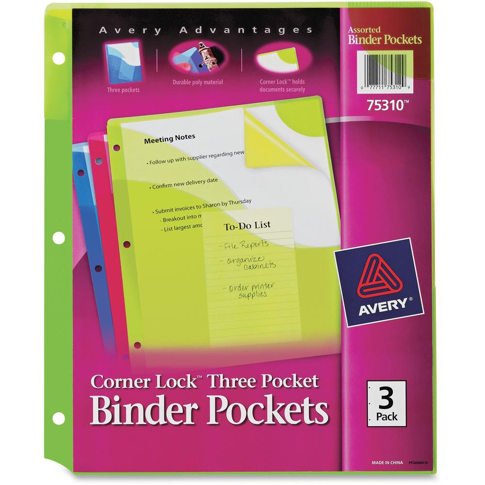 Avery® Corner Lock Binder Pockets