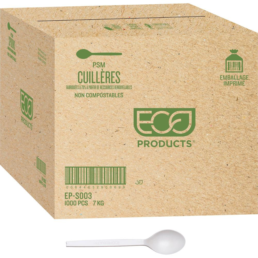Eco products 7 plant starch spoons 1000 carton 1000 x for How big is a plastic spoon