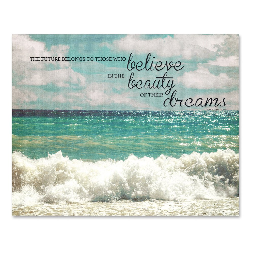 Advantus Believe Motivational Canvas Print 28 Quot Width X
