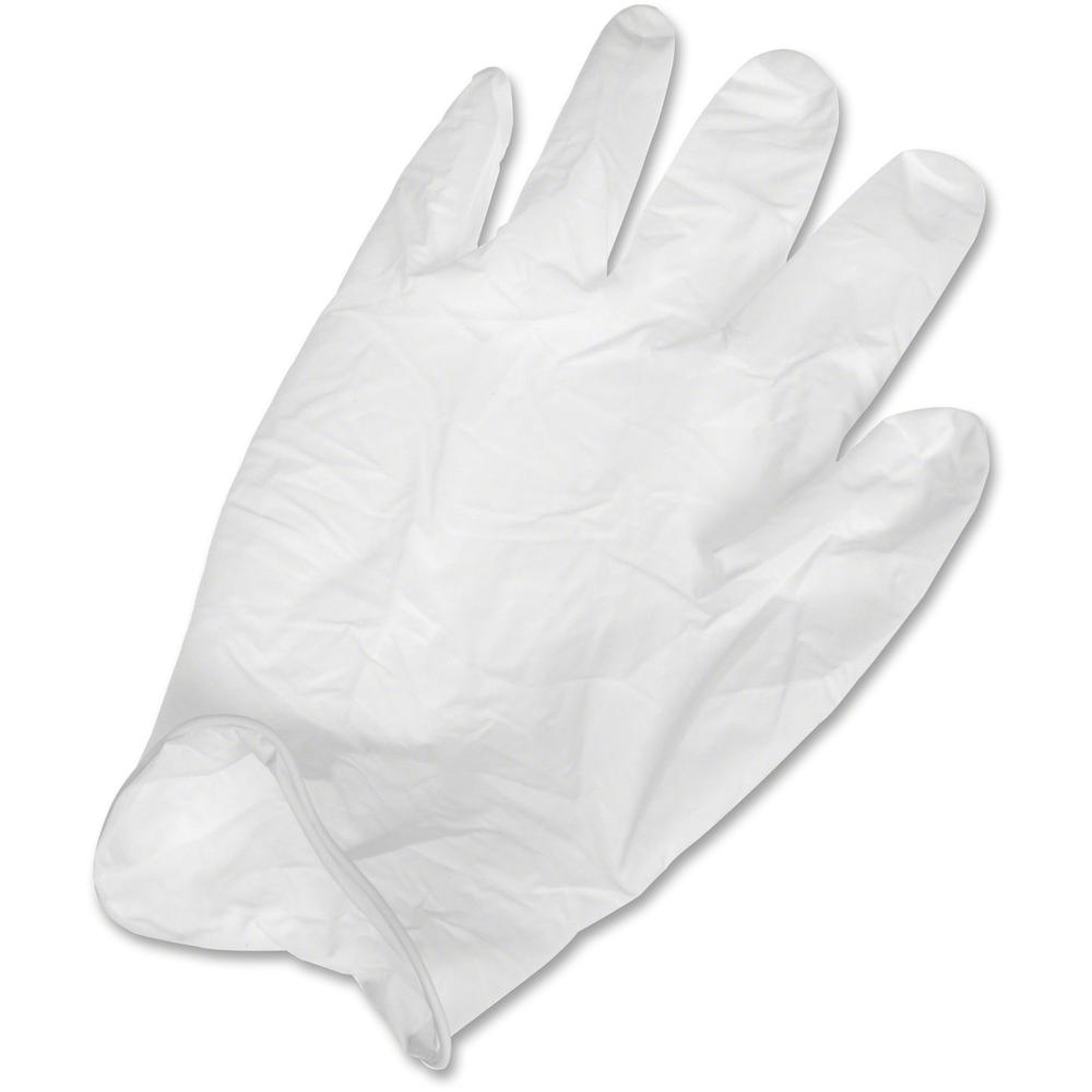 Ansell Health Powder-free Latex Exam Gloves - Large Size - Latex, Natural Rubber - White - Textured, Powder-free, Comfortable, Acid Resistant, Alcohol Resistant, Ambidextrous, Disposable, Rolled Cuff,. Picture 1