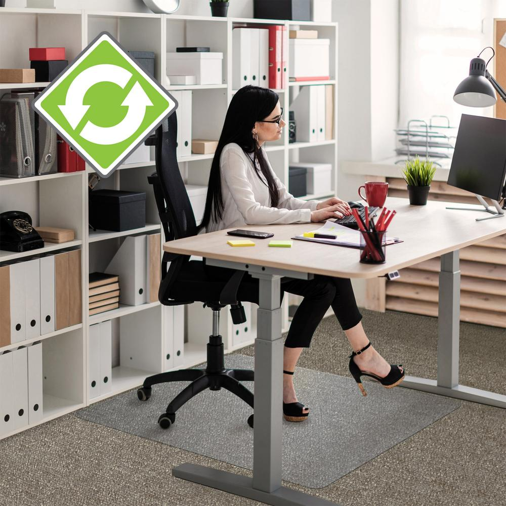 Ecotex Evolutionmat Standard Pile Chair Mat Home Office Carpet Indoor Hard Floor 60 Length X 48