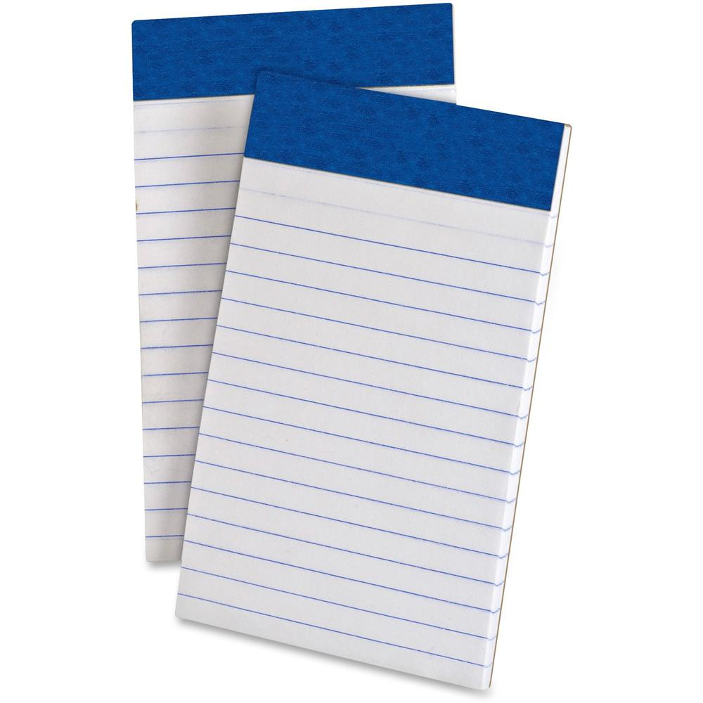 "TOPS Perforated Medium Weight Writing Pads - 50 Sheets - 15 lb Basis Weight - 3"" x 5"" - White Paper - Chipboard Backing, Sturdy Back, Micro Perforated, Easy Tear - 12 / Dozen. Picture 1"