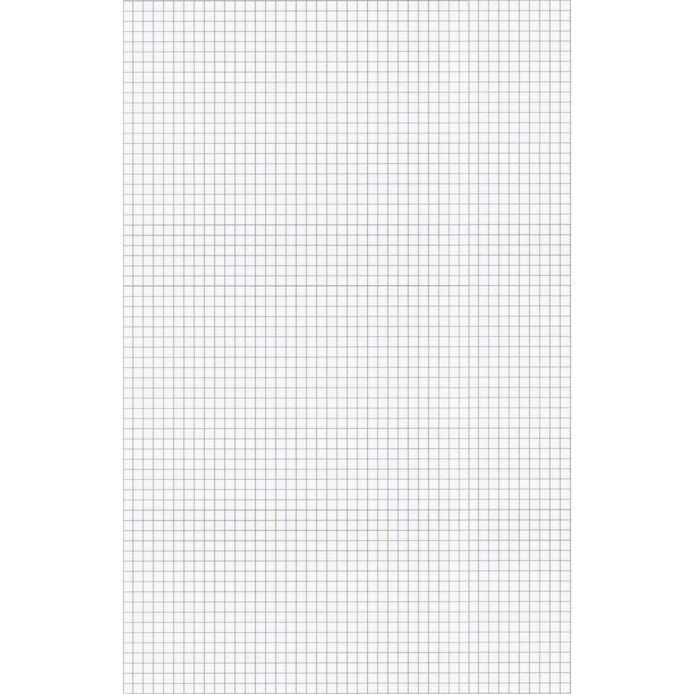 """Ampad Tabloid - size Quadrille Pad - Tabloid - 50 Sheets - Both Side Ruling Surface - 15 lb Basis Weight - 11"""" x 17"""" - White Paper - Chipboard Backing, Smudge Resistant - 50 / Pad. Picture 1"""