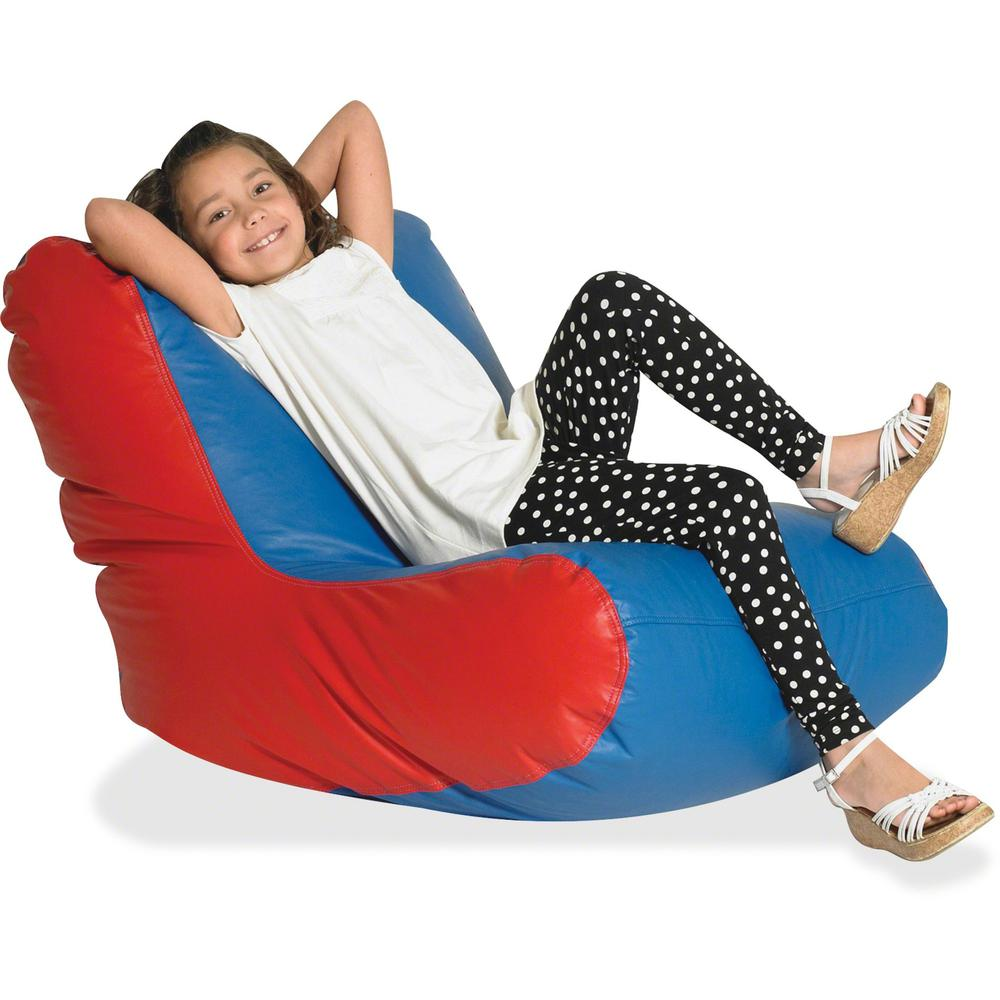 "Children's Factory School Age High-back Seating - Red, Blue - Vinyl - 30"" Length x 28"" Width - 27"" Height - 1 Each. Picture 1"