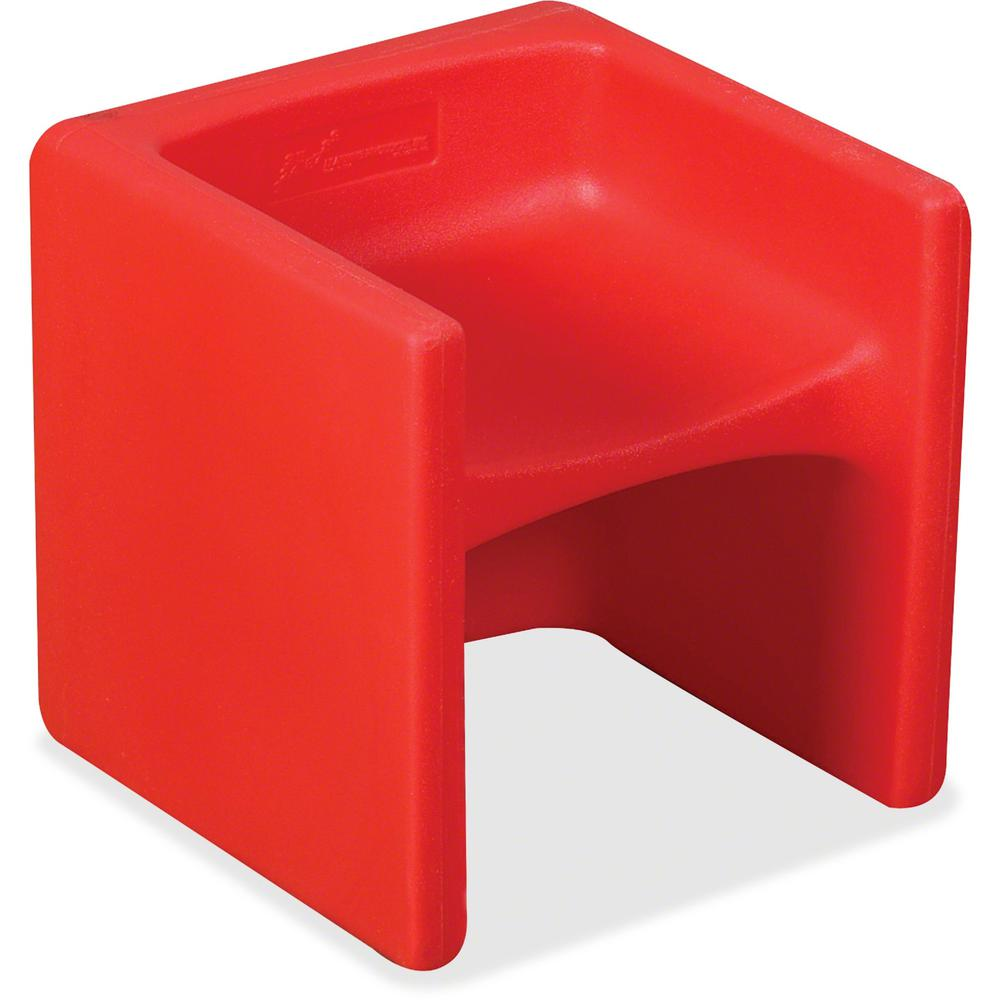"""Children's Factory Multi-use Chair Cube - Red - Polyethylene - 15"""" Length x 15"""" Width - 15"""" Height - 1 / Each. Picture 1"""
