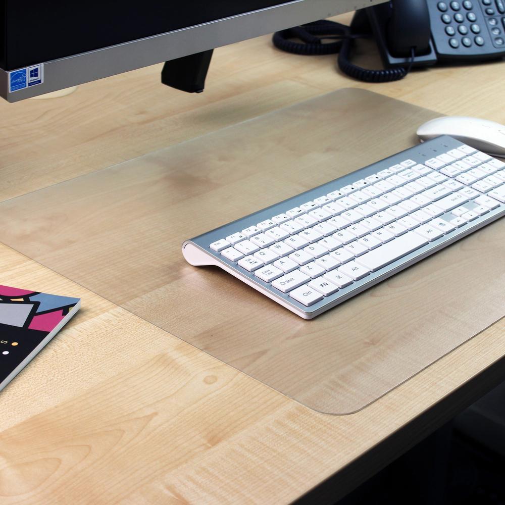 Desktex Anti Slip Polycarbonate Desk Pad Rectangle 36 Width X 20 Depth Polyvinyl Chloride Pvc Crystal Clear