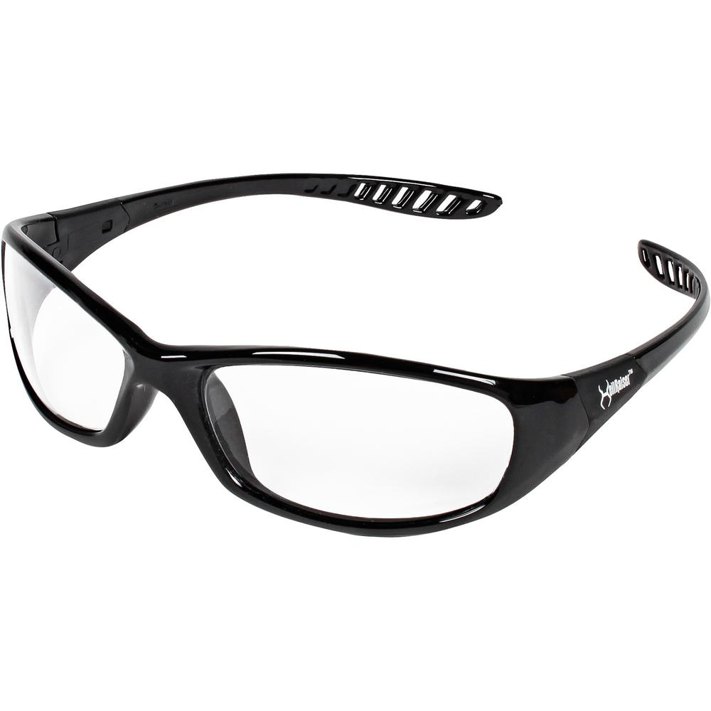 KleenGuard V40 Hellraiser Safety Eyewear - Lightweight, Flexible, Comfortable, Impact Resistant, Anti-fog - Ultraviolet Protection - Polycarbonate Lens - Clear, Black - 1 Each. Picture 1