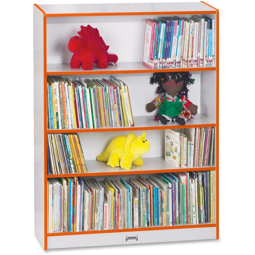 """Rainbow Accents 48"""" Bookcase - 48"""" Height x 36.5"""" Width x 11.5"""" Depth - Orange - 1Each. Picture 1"""