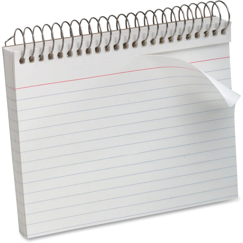 Printing On Index Cards: Oxford Spiral Bound Ruled Index Cards