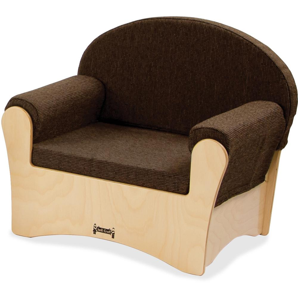 "Jonti-Craft Komfy Chair - Espresso Fabric Seat - Baltic - Acrylic - 26.5"" Width x 19.5"" Depth x 23"" Height - 1 Each. Picture 1"