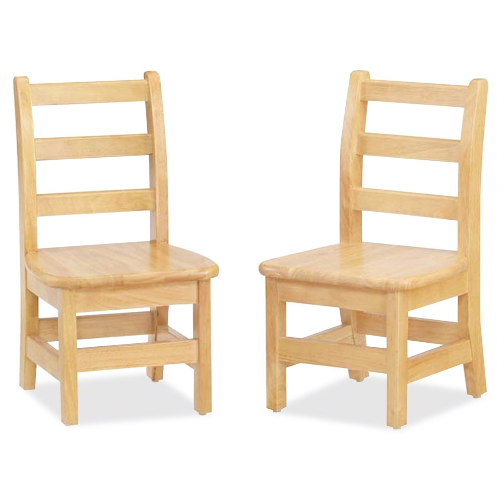 KYDZ Ladderback Chair - Solid Hardwood - Maple. Picture 1