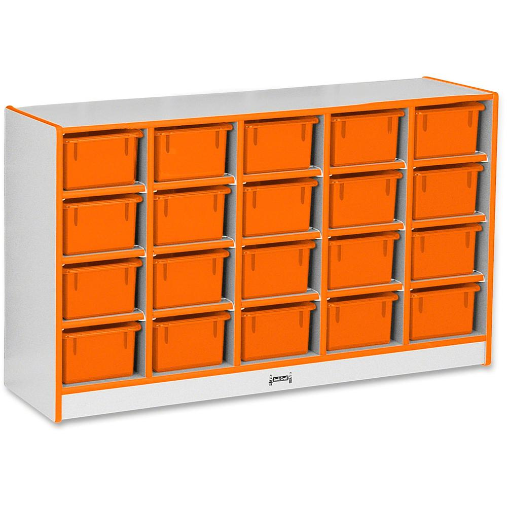 "Rainbow Accents Rainbow Accents Cubbie-trays Storage Unit - 29.5"" Height x 48"" Width x 15"" Depth - Orange - Rubber - 1Each. Picture 1"