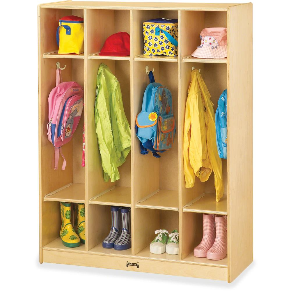 """Jonti-Craft 4-section Coat Locker - 4 Compartment(s) - 50.5"""" Height x 39"""" Width x 15"""" Depth - Baltic - Acrylic - 1Each. Picture 1"""