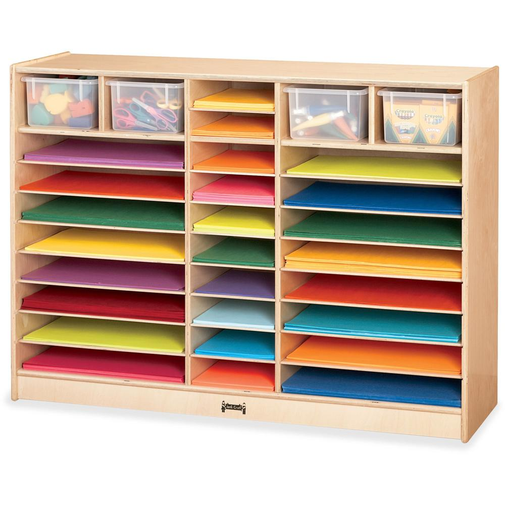 "Jonti-Craft Mobile Paper Center - 35.5"" Height x 48"" Width x 15"" Depth - Baltic - Hard Rubber - 1Each. Picture 1"