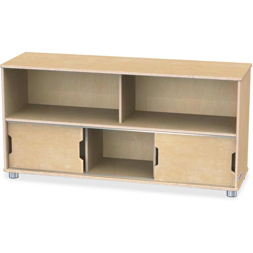 "TrueModern Storage Shelves - 24"" Height x 48.5"" Width x 15"" Depth - Baltic - Anodized Aluminum, Baltic Birch - 1Each. Picture 1"