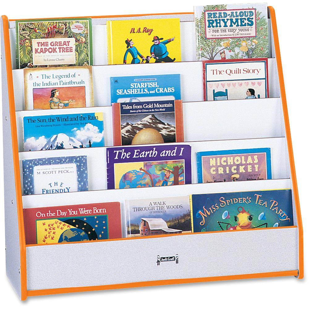 """Rainbow Accents Laminate 5-shelf Pick-a-Book Stand - 5 Compartment(s) - 1"""" - 27.5"""" Height x 30"""" Width x 13.5"""" Depth - Orange - 1Each. Picture 1"""