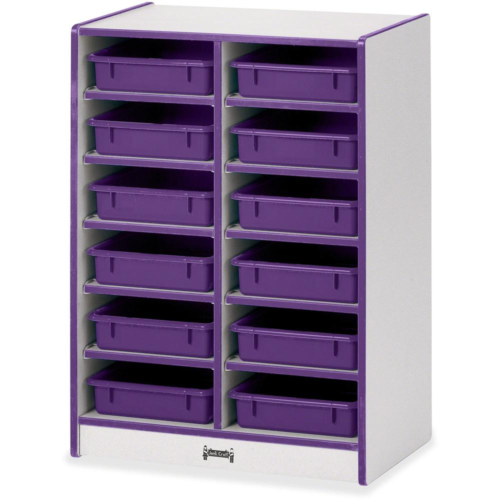 """Rainbow Accents Rainbow Mobile Paper-Tray Storage - 35.5"""" Height x 24.5"""" Width x 15"""" Depth - Purple - Rubber - 1Each. Picture 1"""