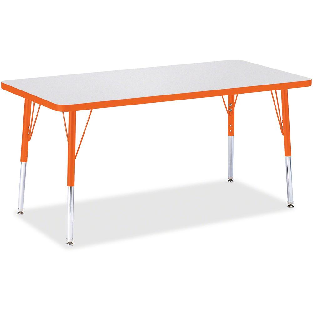 """Berries Elementary Height Color Edge Rectangle Table - Laminated Rectangle Top - Four Leg Base - 4 Legs - 48"""" Table Top Length x 24"""" Table Top Width x 1.13"""" Table Top Thickness - 24"""" Height - Assembly. Picture 1"""