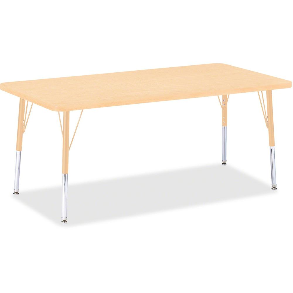 """Jonti-Craft Berries Elementary Maple Top/Edge Rectangle Table - Laminated Rectangle, Maple Top - Four Leg Base - 4 Legs - 60"""" Table Top Length x 30"""" Table Top Width x 1.13"""" Table Top Thickness - 24"""" H. Picture 1"""