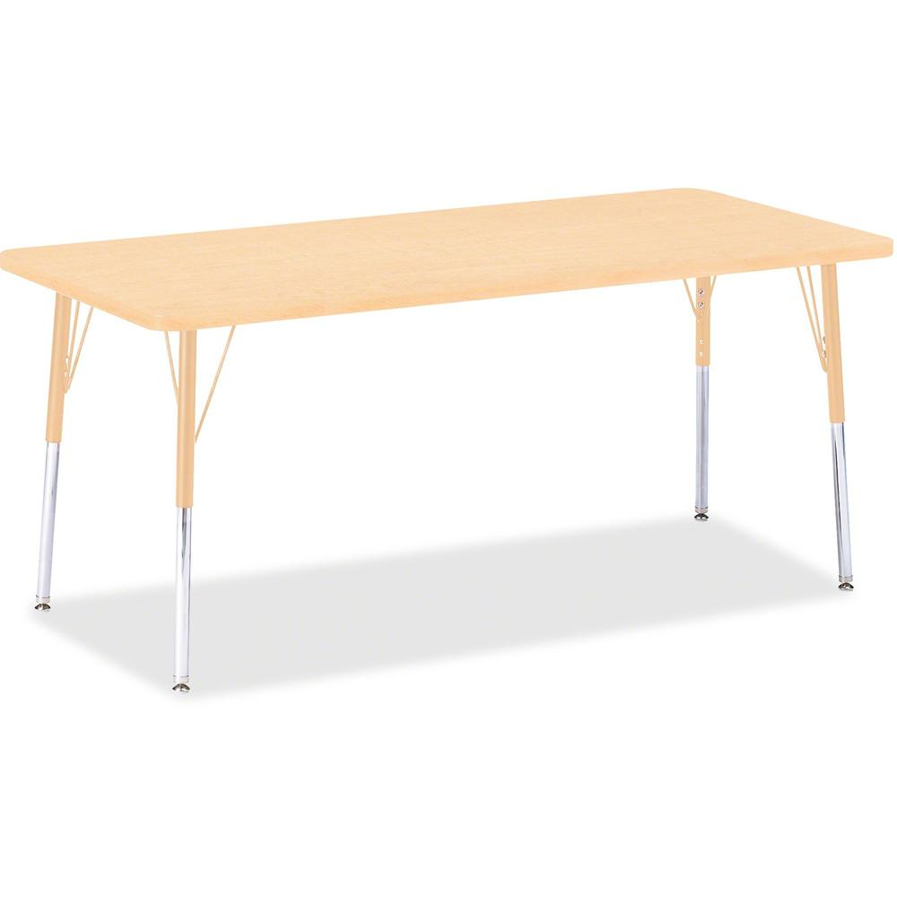"Jonti-Craft Berries Adult Height Maple Top/Edge Rectangle Table - Laminated Rectangle, Maple Top - Four Leg Base - 4 Legs - 72"" Table Top Length x 30"" Table Top Width x 1.13"" Table Top Thickness - 31"". Picture 1"