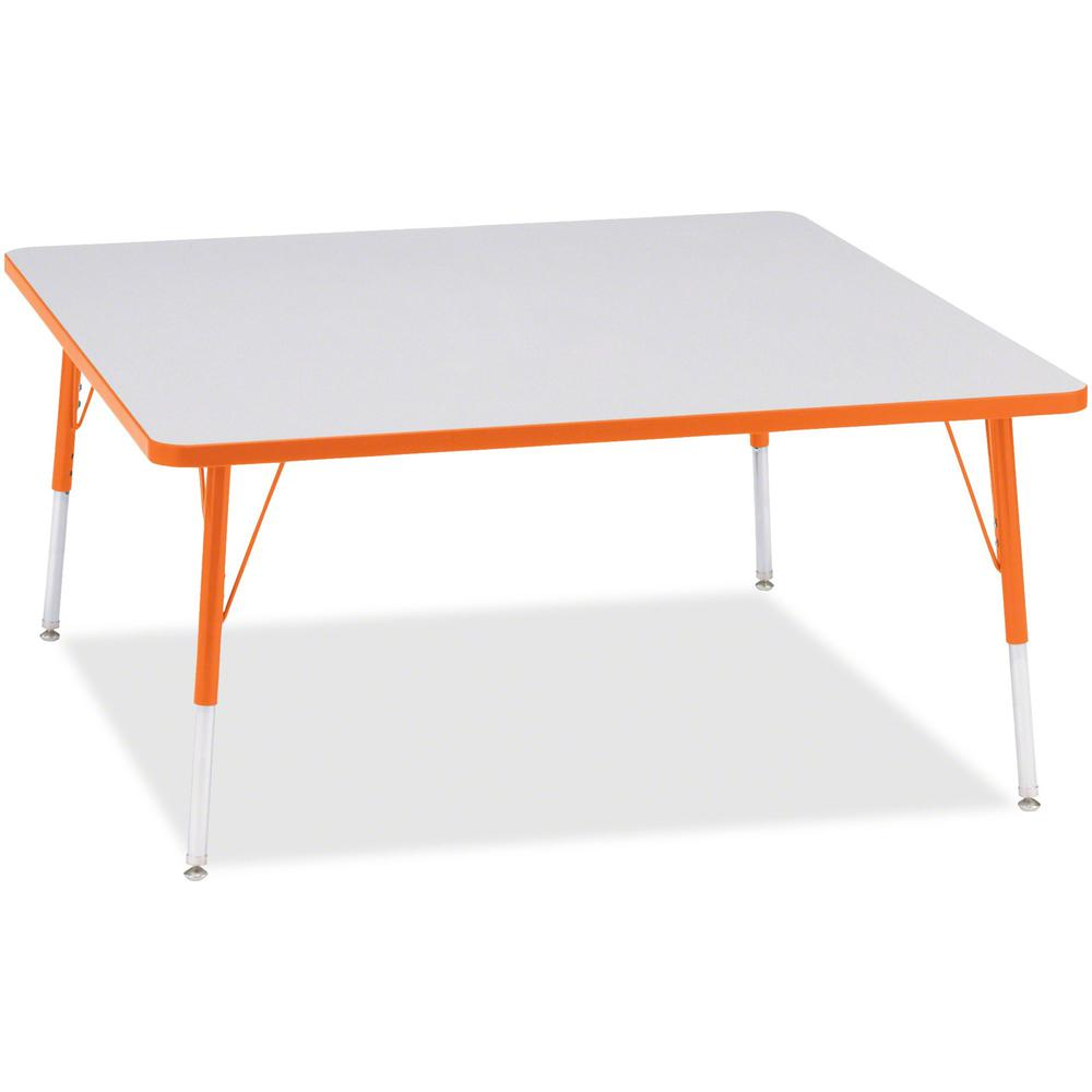 "Jonti-Craft Berries Adult Height Prism Color Edge Square Table - Laminated Square, Orange Top - Four Leg Base - 4 Legs - 48"" Table Top Length x 48"" Table Top Width x 1.13"" Table Top Thickness - 31"" He. Picture 1"