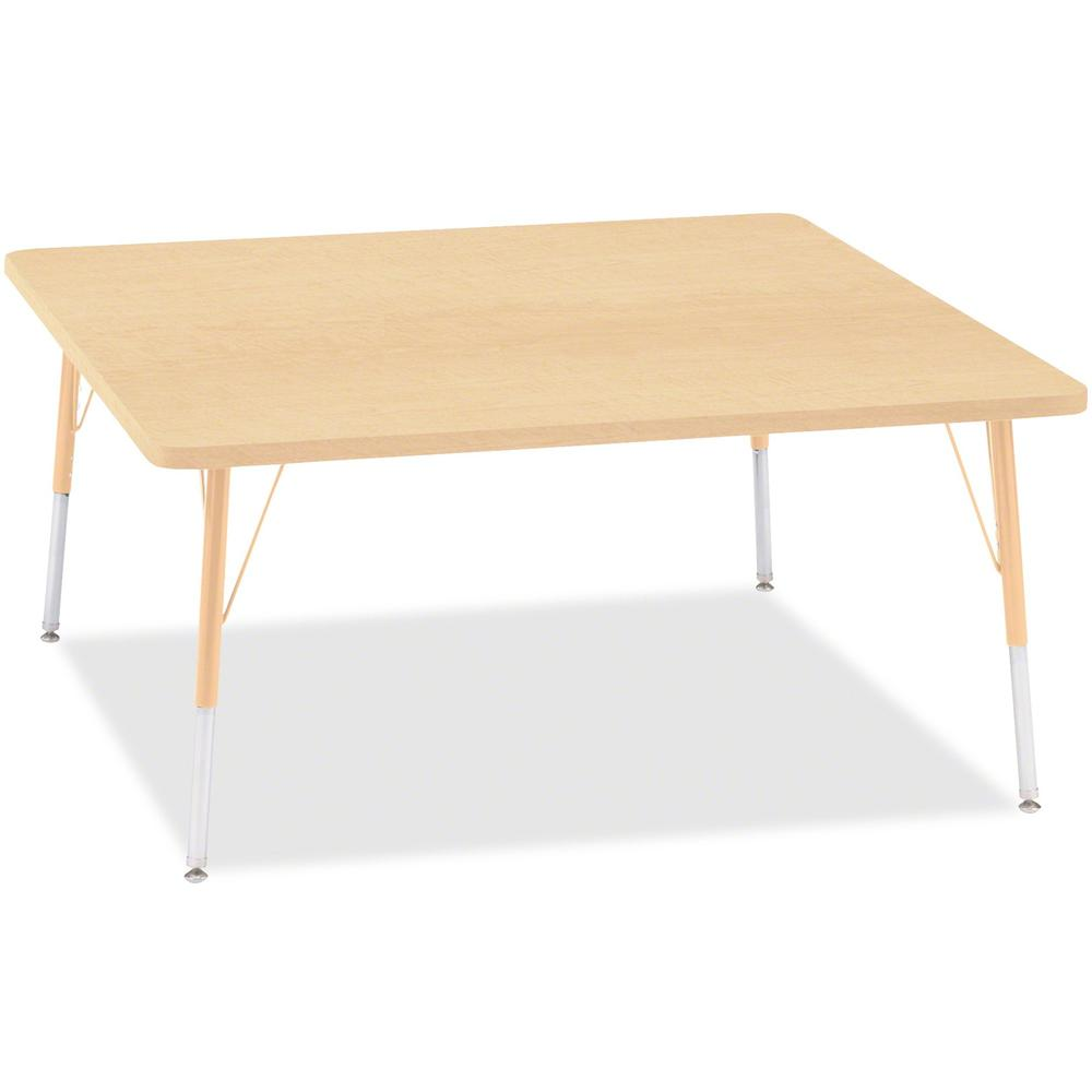 "Berries Adult Height Maple Top/Edge Square Table - Laminated Square, Maple Top - Four Leg Base - 4 Legs - 48"" Table Top Length x 48"" Table Top Width x 1.13"" Table Top Thickness - 31"" Height - Assembly"