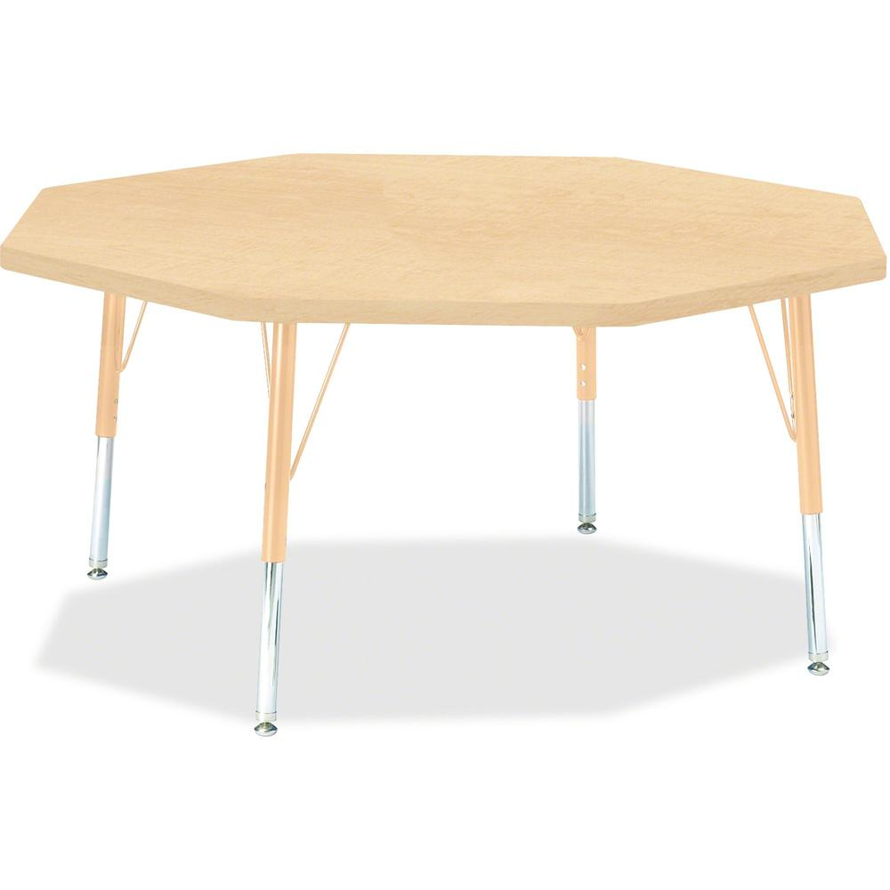 """Berries Toddler Height Maple Top/Edge Octagon Table - Laminated Octagonal, Maple Top - Four Leg Base - 4 Legs - 1.13"""" Table Top Thickness x 48"""" Table Top Diameter - 15"""" Height - Assembly Required - Po. Picture 1"""
