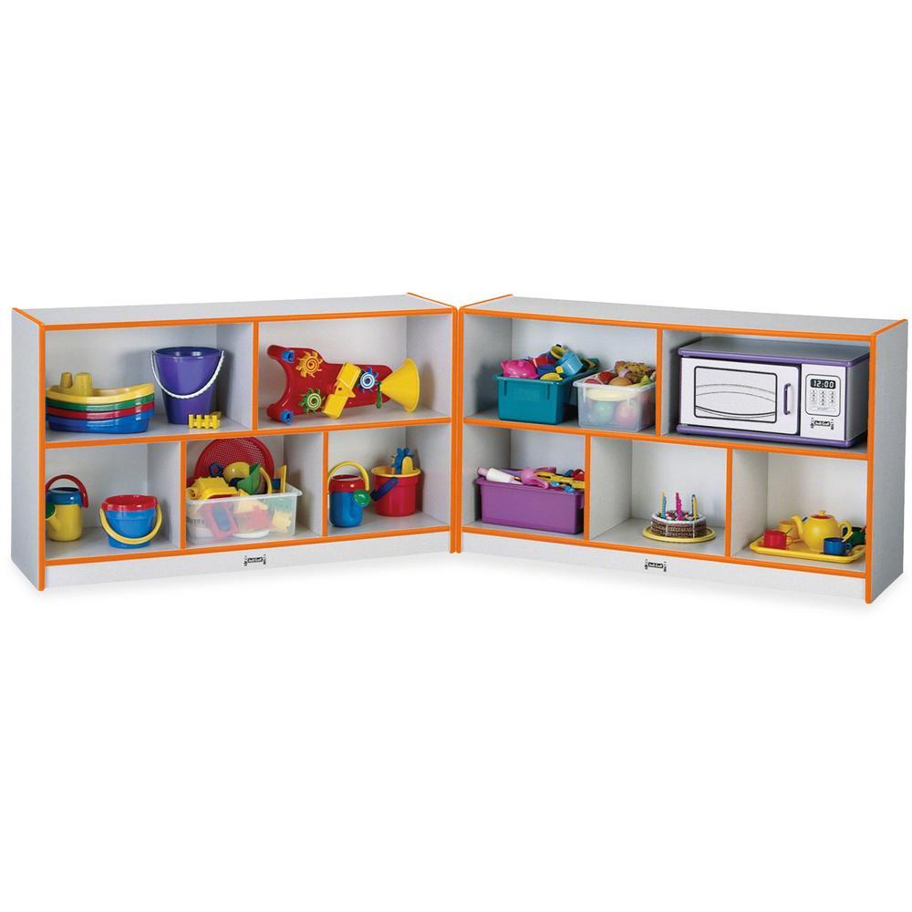 "Rainbow Accents Fold-n-Lock Storage Shelf - 24.5"" Height x 96"" Width x 15"" Depth - Orange - Hard Rubber - 1Each. Picture 1"