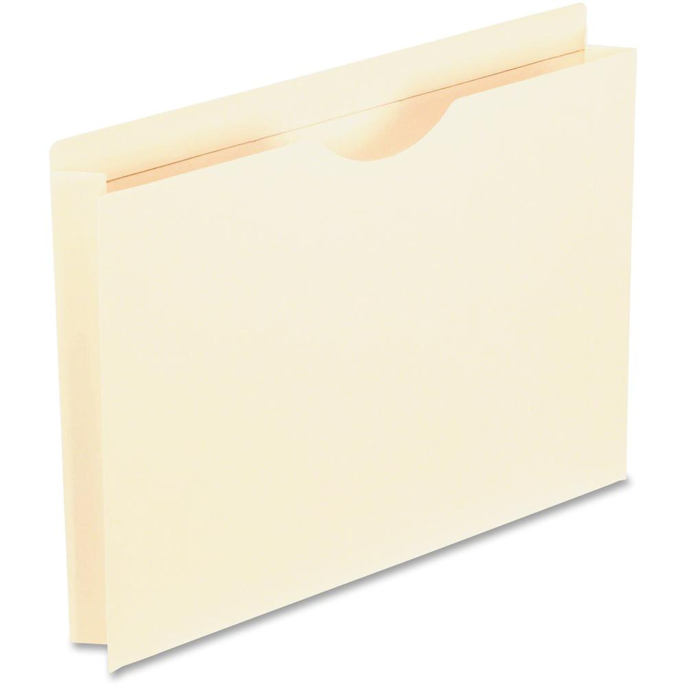 "Pendaflex Manila Reinforced File Jackets - Letter - 8 1/2"" x 11"" Sheet Size - 2"" Expansion - 1 Pocket(s) - Straight Tab Cut - Top Tab Location - 11 pt. Folder Thickness - Manila - Manila - Recycled - . Picture 1"