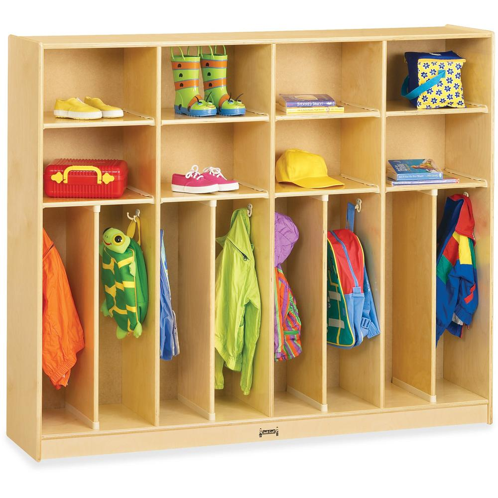 "Jonti-Craft Large Neat-n-Trim Locker - 8 Compartment(s) - 50.5"" Height x 60"" Width x 15"" Depth - Baltic - Acrylic - 8 / Each. Picture 1"