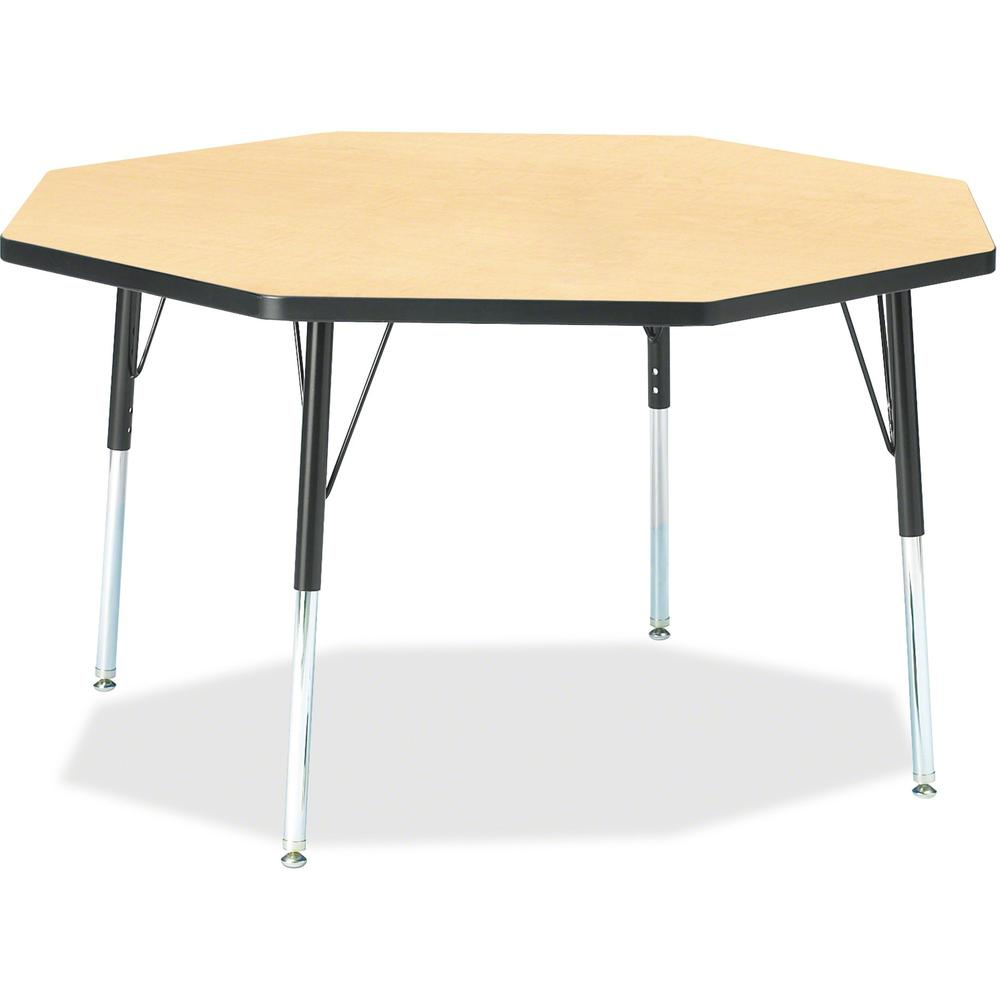 """Jonti-Craft Berries Adult Height Color Edge Octagon Table - Laminated Octagonal, Maple Top - Four Leg Base - 4 Legs - 1.13"""" Table Top Thickness x 48"""" Table Top Diameter - 31"""" Height - Assembly Require. Picture 1"""
