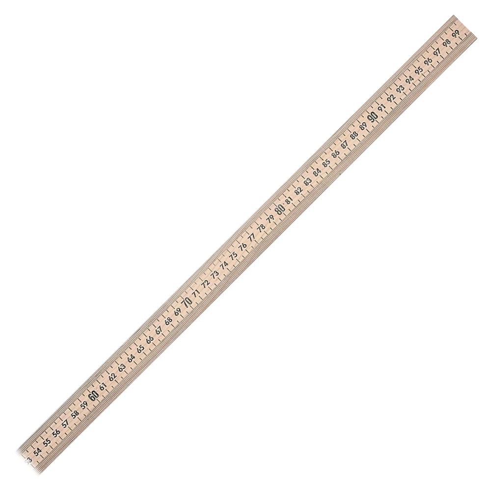 Hardwood meterstick 39 5 quot length 1 8 graduations imperial