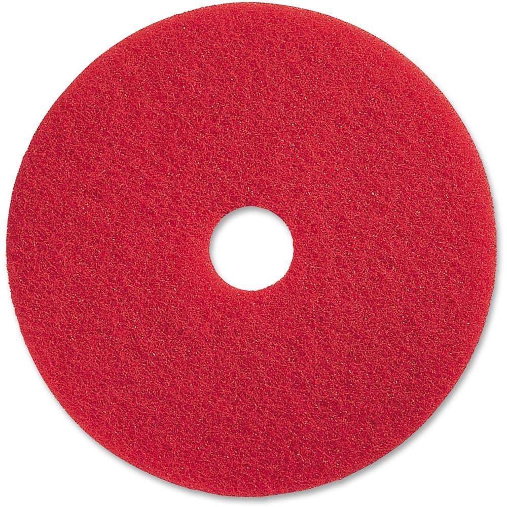 Genuine joe red buffing floor pad 17 diameter 5 for 17 floor buffer pads