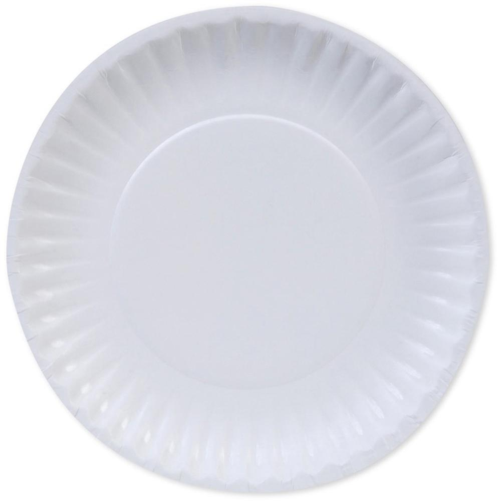 Dixie Basic Paper Plates - 6  Diameter Plate - Paper - Microwave Safe - White - 100 Piece(s) / Pack  sc 1 st  Bison Office & Dixie Basic Paper Plates - 6