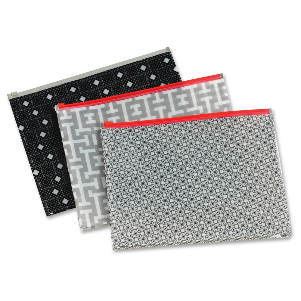 Pendaflex Zipper Fashion Print Poly Envelopes Document