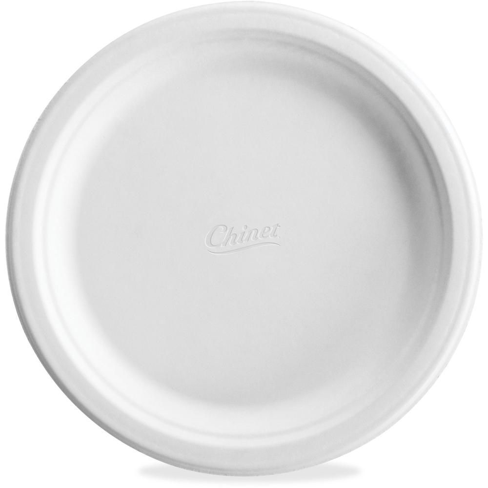 Huhtamaki Classic Chinet White Molded Plates - 125 / Pack - 8.75  Diameter Dinner Plate - Paper Plate - Disposable - Microwave ...  sc 1 st  Bison Office & Huhtamaki Classic Chinet White Molded Plates - 125 / Pack - 8.75 ...