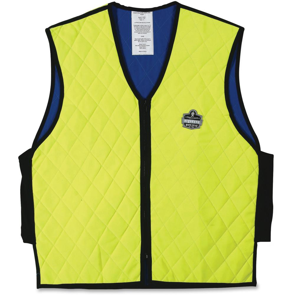 Ergodyne Chill-Its Evaporative Cooling Vest - Comfortable, High Visibility, Ventilation, Stretchable, Water Repellent, Lightweight, Durable, Washable, Reusable, Zipper Closure - Extra Large Size - Pol