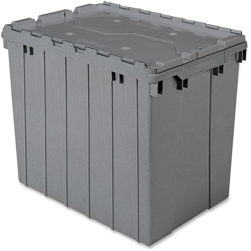 Akro Mils Attached Lid Storage Container Internal