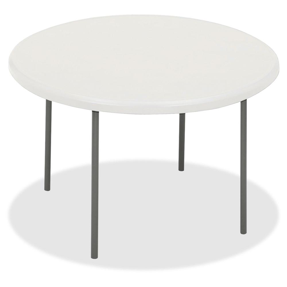 Iceberg IndestrucTable TOO 1200 Series Round Folding Table, 78 Inch  Diameter, Platinum