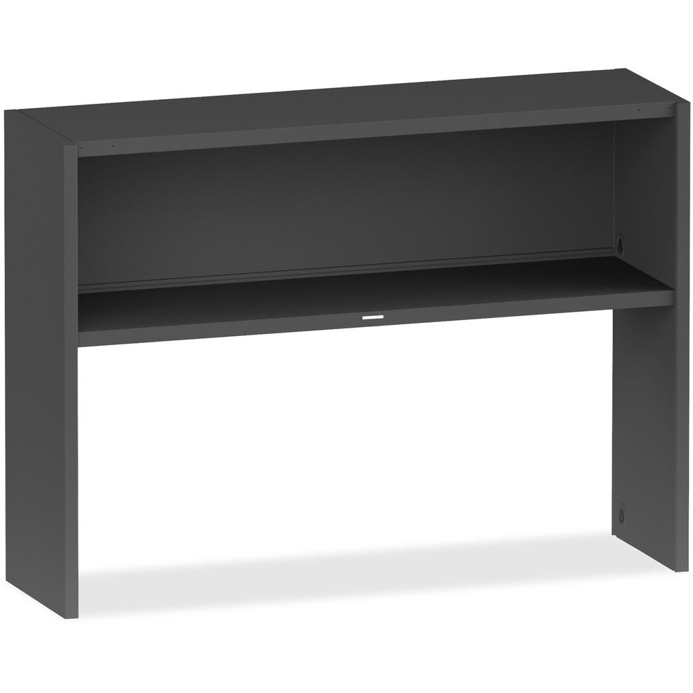 Lorell 97000 Modular Desking Charcoal Stack On Hutch 48