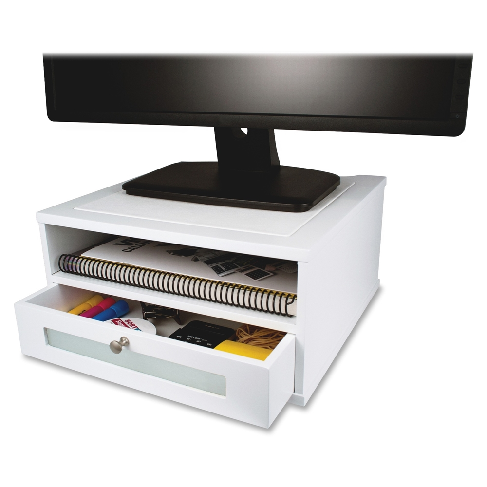 Victor W1175 Pure White Monitor Riser 6 5 Quot Height X 13